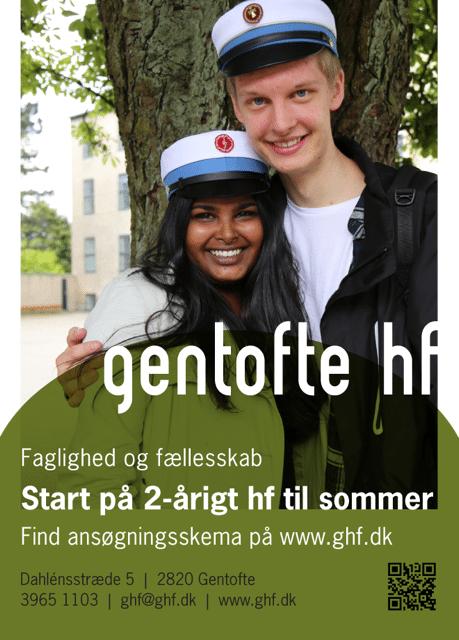 Der er stadige ledige pladser på Gentofte HF med skolestart til sommer.