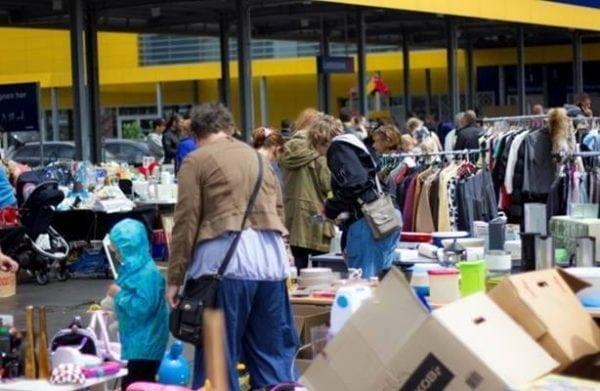 Loppemarked ved Ikea Gentofte