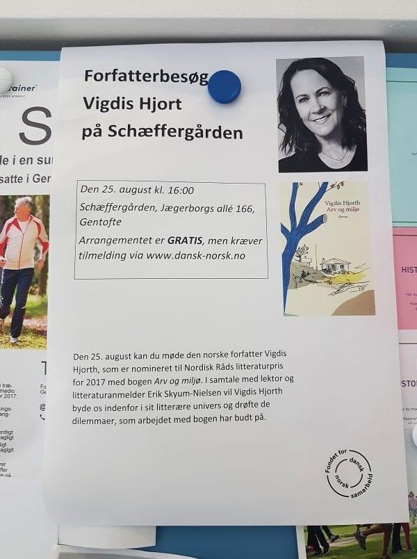 Forfatterbesøg på Schæffergården