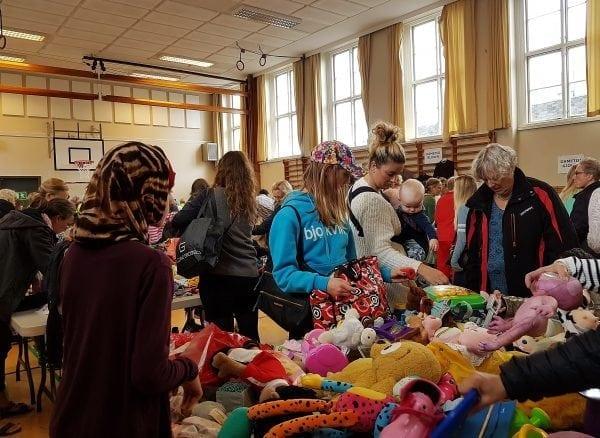 Gentofte Byttemarked på Dyssegård bibliotek.