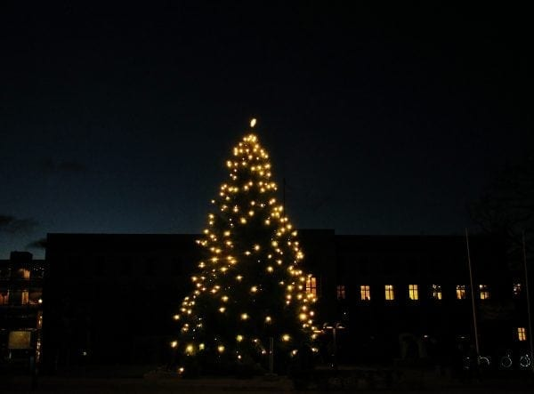 Juletræet tændes på Rådhuset