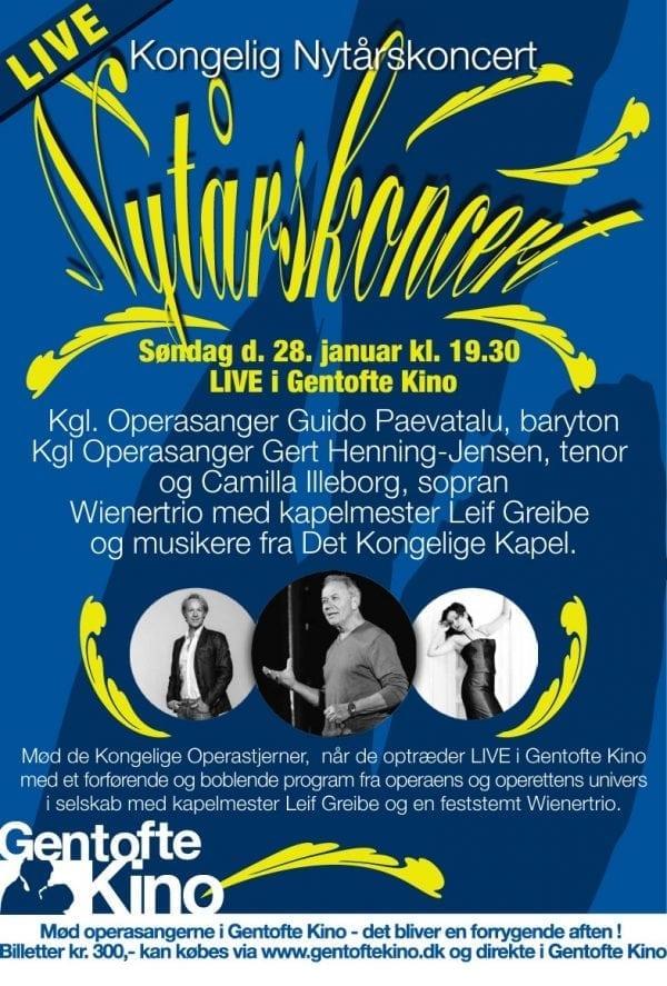 Live Nytårskoncert i Gentofte Kino