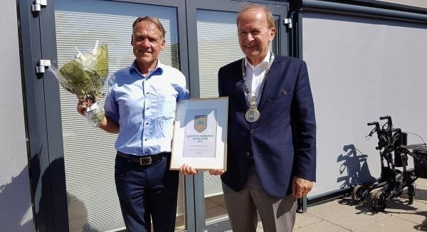 Niels Ulrik Kampmann Hansen modtager Gentofte Kommunes initiativpris