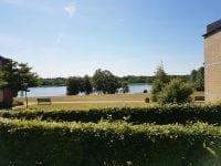 Udsigt over Gentofte sø fra plejehjemmets Salems terrasse. Foto: IDM