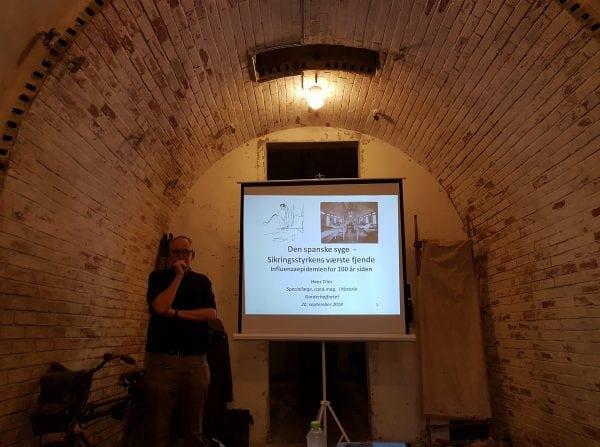 Foredrag om Den spanske Syge på Garderhøjfortet