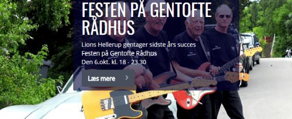 Lions Club holder fest på Gentofte Rådhus