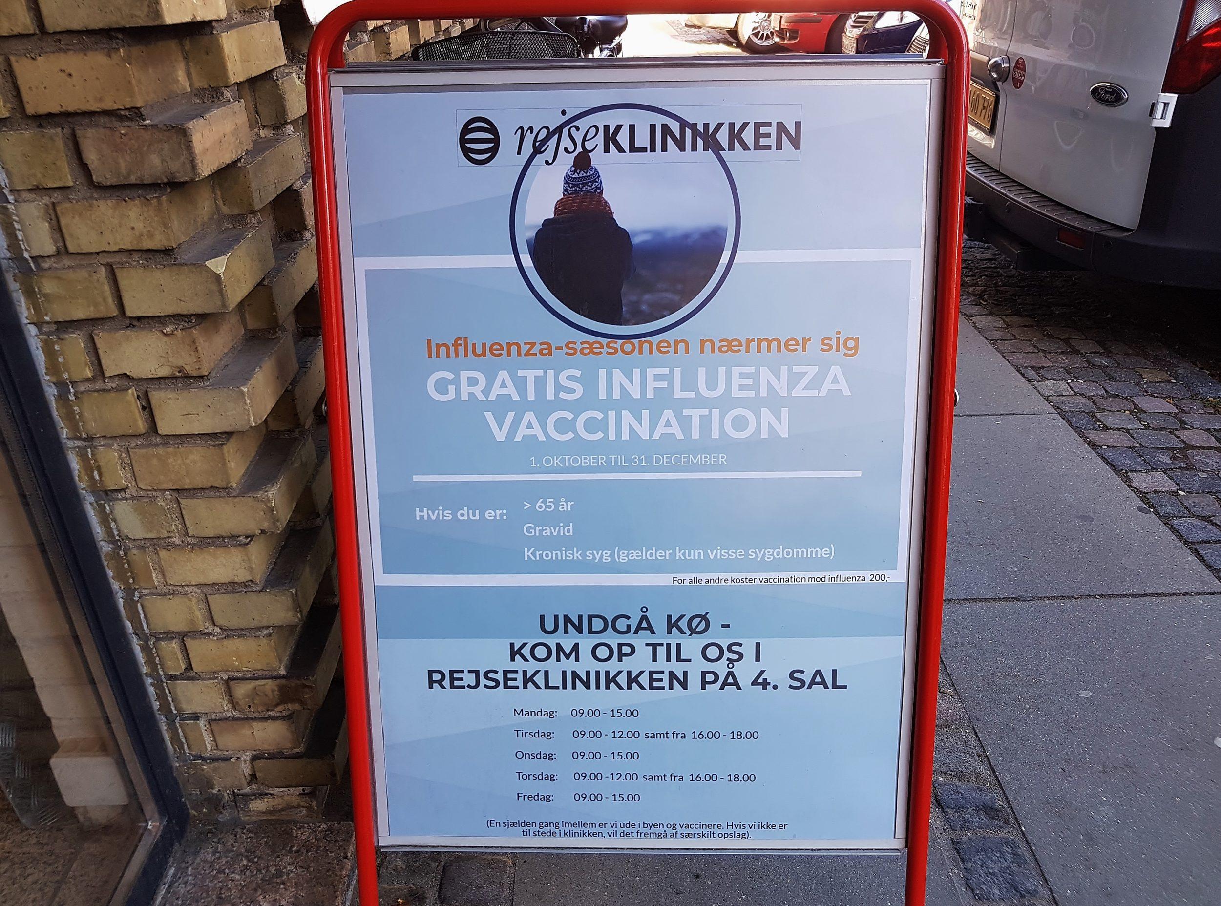 Influenza-sæsonen nærmer sig