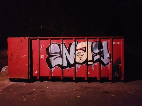 Graffiti på Ermelundsvænget i Charlottenlund
