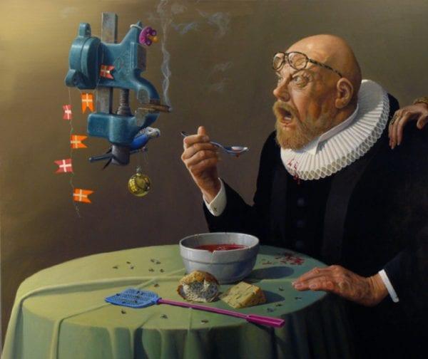 Humorismeudstilling hos Knud Grothe
