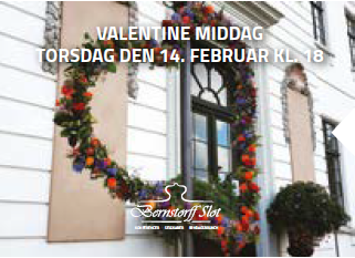 Valentinesmiddag på Bernstorff Slot