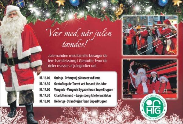 D. 23. nov. tændes juletæerne i Gentofte