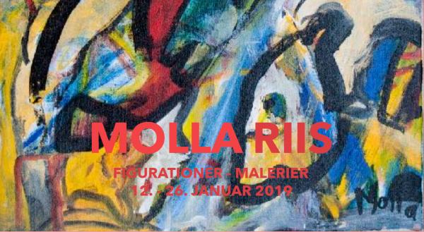 Fernisering på udstillingen med Molla Riis