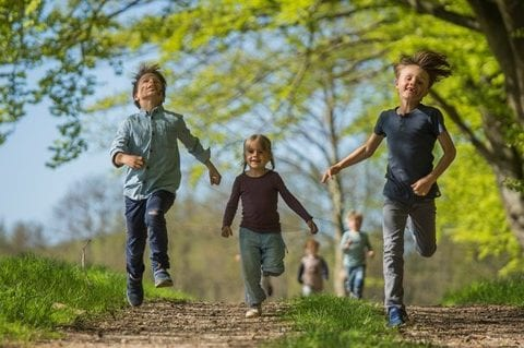 Børn i naturen, foto: Friluftsrådet