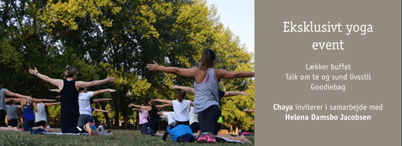 Chaya inviterer i samarbejde med Helena Damsbo Jacobsen til et eksklusivt yoga-event