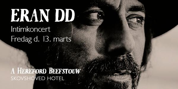Kom til Intimkoncert med Erann DD på A Hereford Beefstouw, Skovshoved Hotel