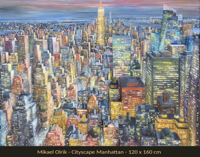 Velkommen til udstilling med malerier af MIKAEL OLRIK