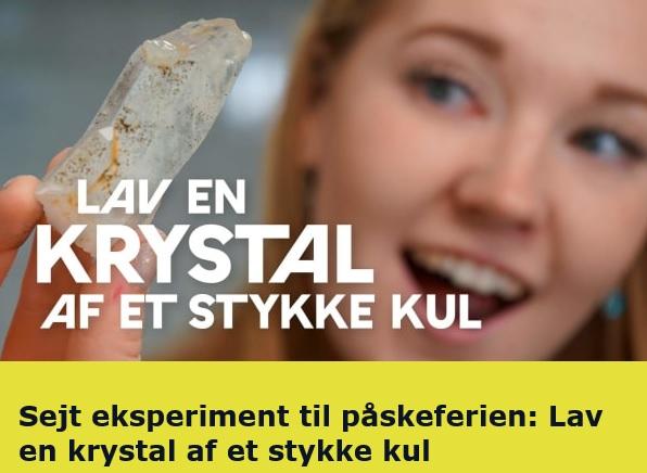 SEJT hjemmeforsøg: Lav en krystal af et stykke kul